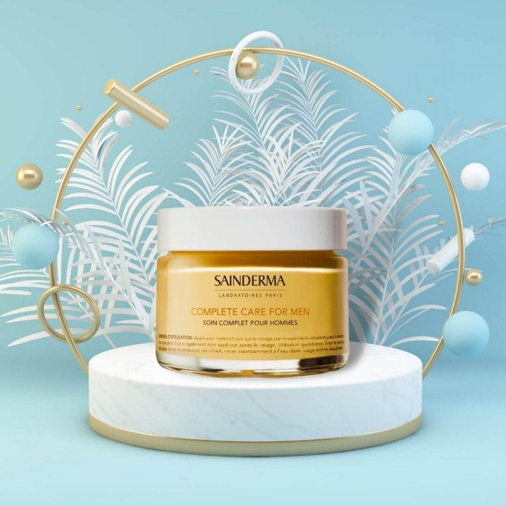 Luxury organic mens face cream